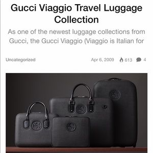 Authentic Gucci Viaggio Travel Luggage Carry-on
